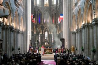 D-Day memorial service in Bayeux cathedral