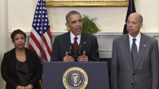 President Obama, Loretta Lynch and Jeh Johnson