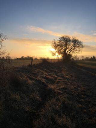 Sunrise in Mollington