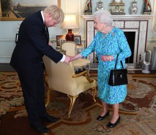 Boris Johnson meets the Queen in July