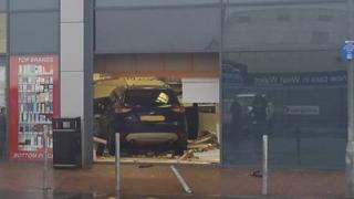 A car crash at Home Bargains