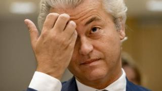 Leader of the Party for Freedom (PVV) Geert Wilders pictured on 23 September, 2016 in Badhoevedorp.