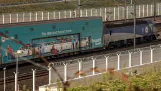 Eurotunnel train in Calais