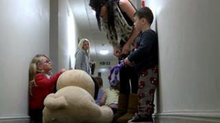 A family in temporary accommodation in London