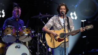 Deacon Frey plays with the Eagles