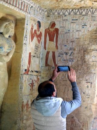 The tomb's colours have survived unusually well for almost 4,400 years, experts said
