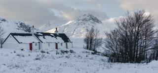 Glencoe. Black rock Cottage.