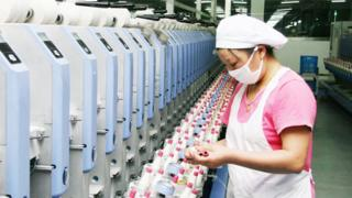 Textile factory in China's Jiangsu province - 1 June