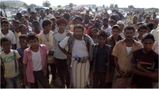Food distribution in Hajjah