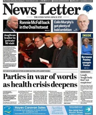 News Letter front page 23/02/18
