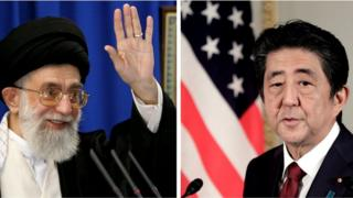 Ayatollah Ali Khamenei and Shinzo Abe
