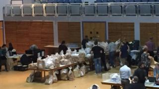 Election count in Grimsby