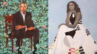 Портрети Барака та Мішель Обами