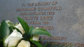 Guernsey holocaust memorial plaque