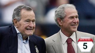 George HW and George W Bush