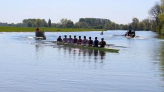 Rowing on Port Meadow