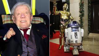 Kenny Baker/C-3PO with R2-D2