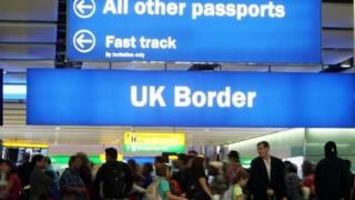UK border at airport