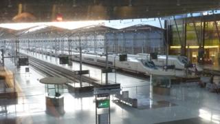 Железнодорожная станция в Испании