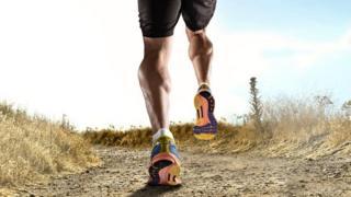 Leg of person wey dey run