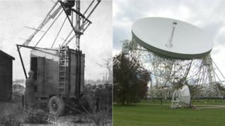 Jodrell Bank in 1945 and 2010