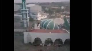 Mosque damaged by the tsunami