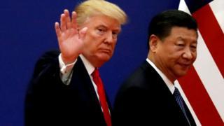 Donald Trump e Xi Jinping, em foto de 2017