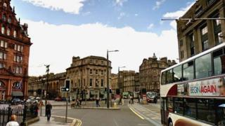 Princes Street and Lothian Road