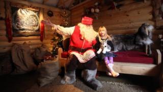 Santa in a grotto