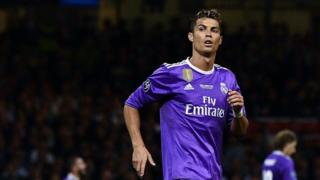 Sawirkan waxaa Cristiano Ronaldo laga qaaday ciyaartii kama dambaysta ahayd ee Real Madrid ay ku hanatay koobka Horyaallada Yurub