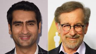 Kumail Nanjiani and Steven Spielberg