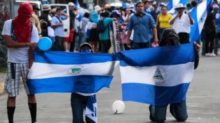 Protesta en Nicaragua el pasado 26 de septiembre