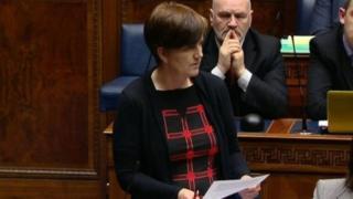 Caitríona Ruane speaking in the assembly