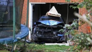 Car crashed into house in Ashford