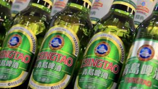 Tsingtao bottles