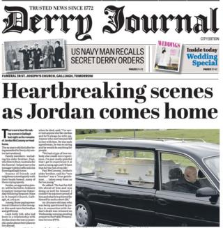 Derry Journal front page