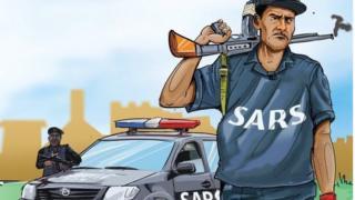 Aworan ọlọpa SARS kan