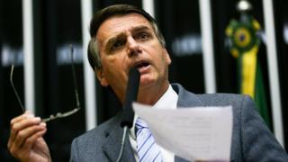 Jair Bolsonaro em discurso como deputado, na Câmara