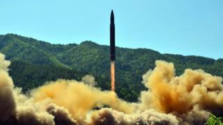 उत्तर कोरिया का मिसाइल परीक्षण