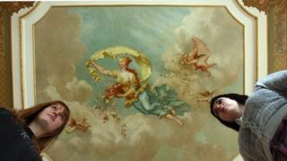 A fresco by artist Thomas Wallace-Hay at the NT's Dyffryn House in the Vale of Glamorgan