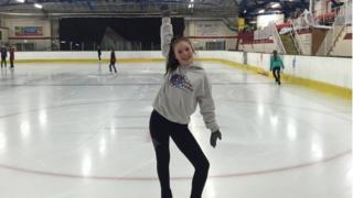 Basic Novice B skater Captain of Wight Sparkles Toni Delap