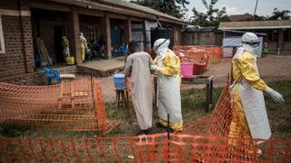 Un centre de traitement contre EBOLA en RDC