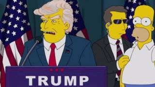 Donald Trump en Los Simpsons
