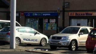 Police car near scene of hit and run