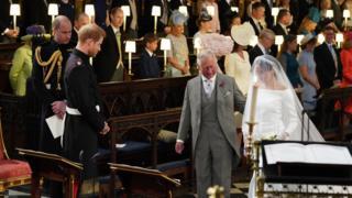 Свадьба принца Гарри и Меган Маркл - Меган у алтаря