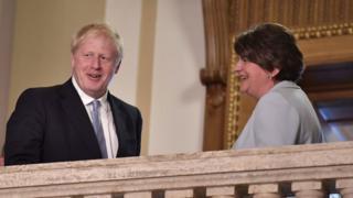 Boris Johnson and Arlene Foster
