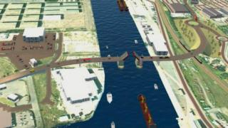 Graphic of the proposed third crossing