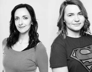 Photographs of Olga and Alina who took part at the photo shoot