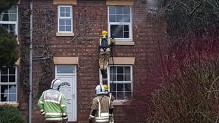 Firefighters at the house on Withington Lane