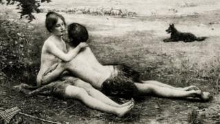 Ilustração de casal prestes a fazer sexo